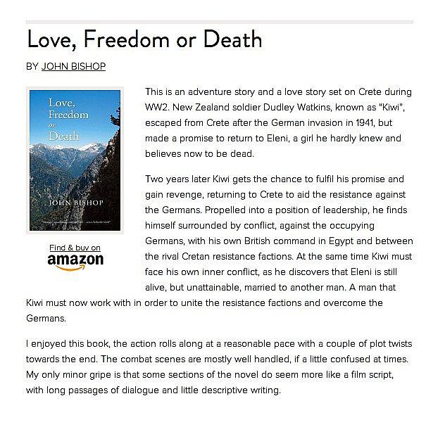 Love, Freedom Or Death - Troubador Book Publishing