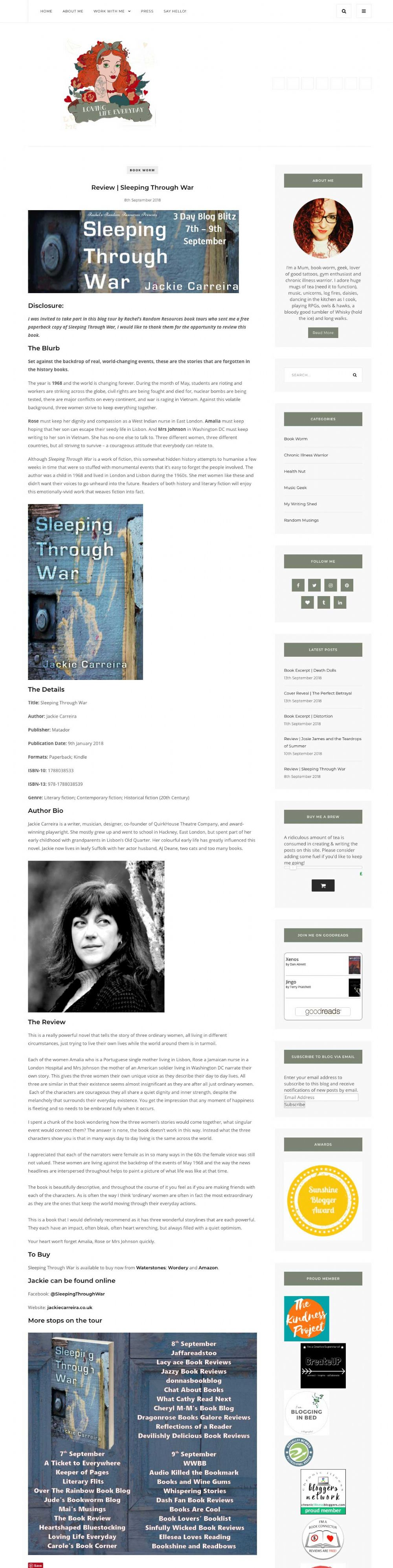 Sleeping Through War - Troubador Book Publishing