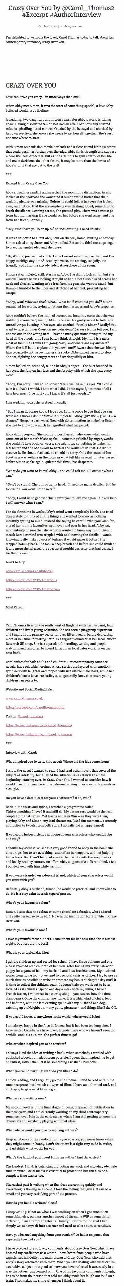 Crazy Over You - Troubador Book Publishing