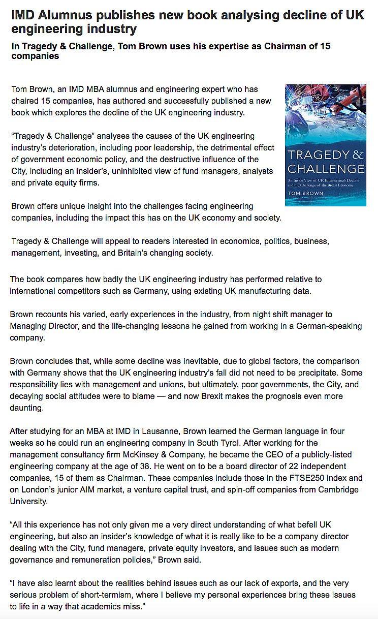 Tragedy & Challenge - Troubador Book Publishing