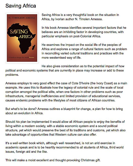 Saving africa troubador book publishing malvernweather Gallery