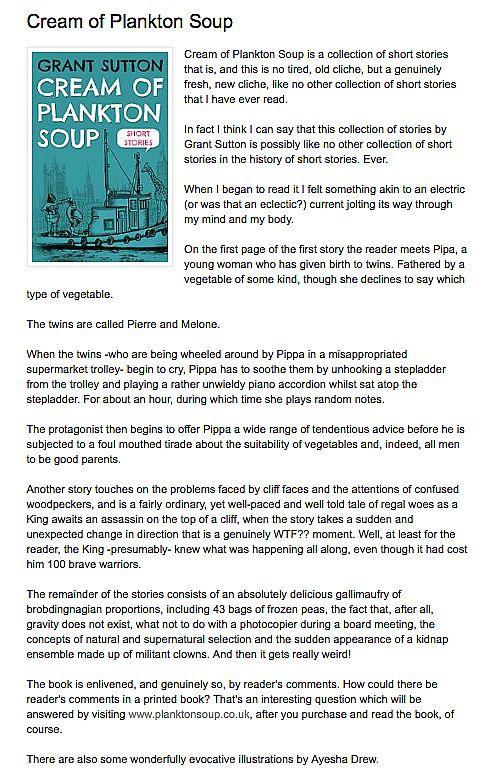 Cream Of Plankton Soup - Troubador Book Publishing