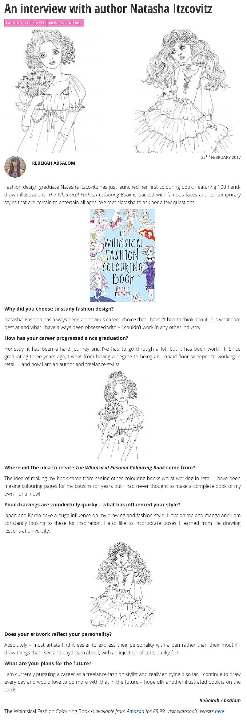 the whimsical fashion colouring book fashion colouring pages elizabeth anne