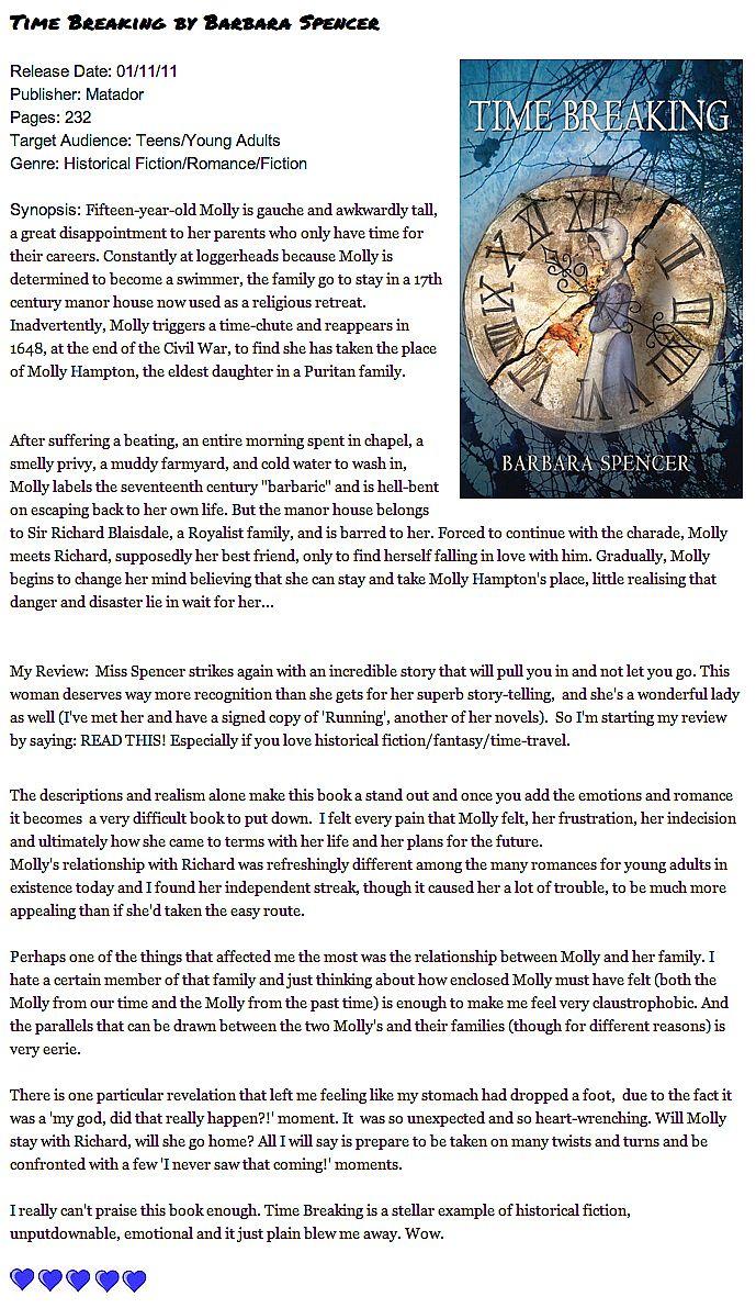 Time Breaking - Troubador Book Publishing