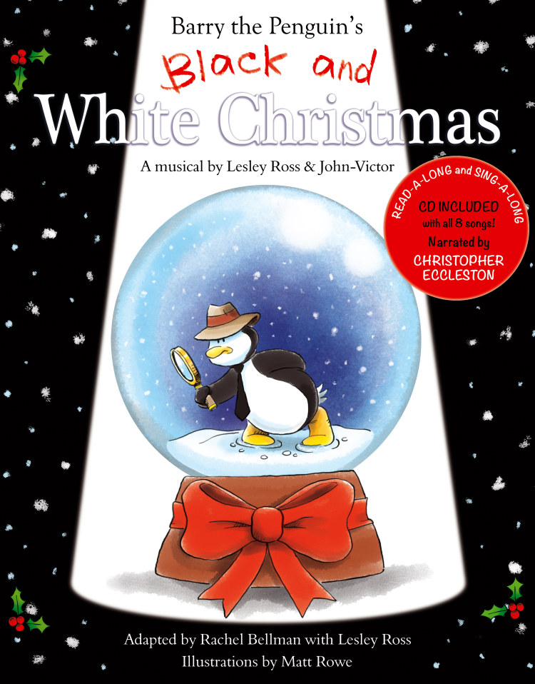 Troubador Barry the Penguin's Black and White Christmas